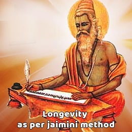 Longevity as per Jaimini Method (Jaimini Ayurdaya)