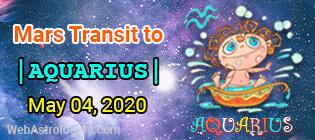 Mars Transit Capricorn to Aquarius