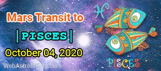 Mars transit Aries to Pisces