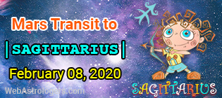 Mars Transit Scorpio to Sagittarius
