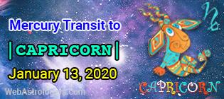 Mercury transit Sagittarius to Capricorn