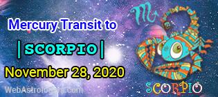 Mercury Transit Libra to Scorpio