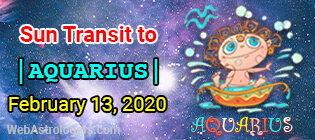 Sun Transit To Aquarius