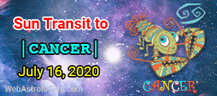 Sun Transit to Cancer