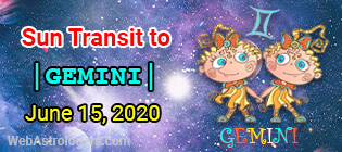 Sun Transit to Gemini