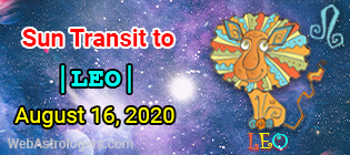 Sun Transit to Leo