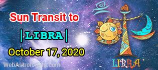 Sun Transit to Libra