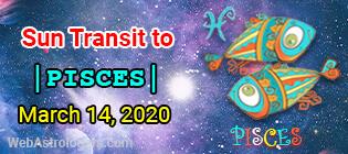 Sun Transit to Pisces