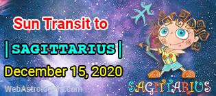 Sun Transit To Sagittarius