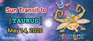Sun Transit to Taurus