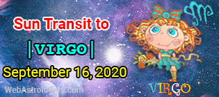 Sun transit to Virgo