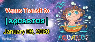 Venus Transit Pisces to Aquarius