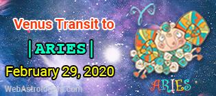 Venus Transit Pisces to Aries