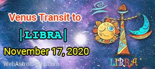 Venus Transit Virgo to Libra