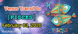 Venus Transit Aquarius to Pisces