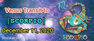 Venus Transit Libra to Scorpio