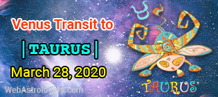 Venus Transit Aries to Taurus